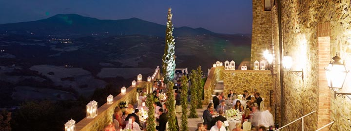Wedding Reception with panoramic view