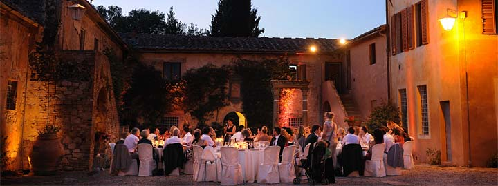 Italien-style Wedding Dinner under a diamond sky